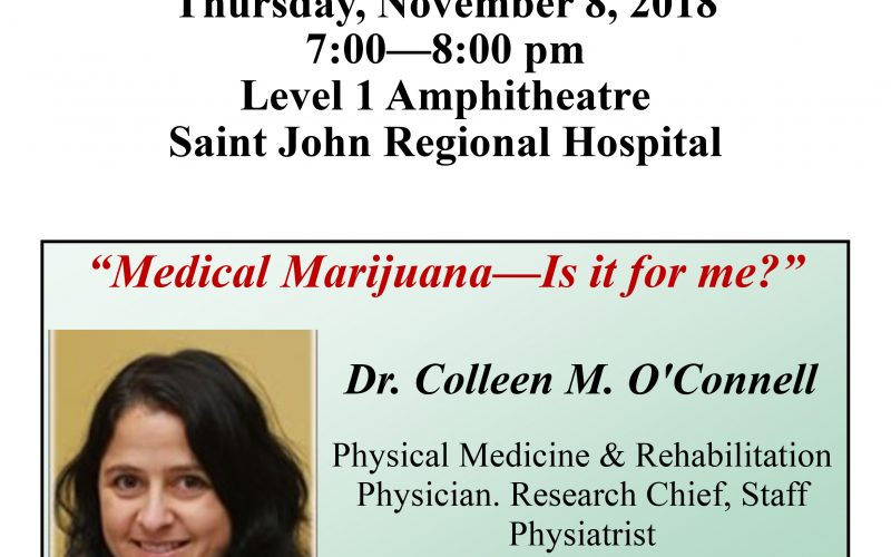 """Free Public Lecture – """"Medical Marijuana – Is it Right for Me?"""""""
